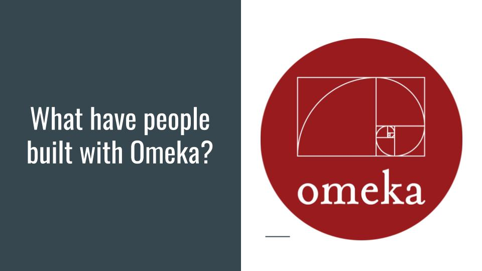 What have people built with Omeka?