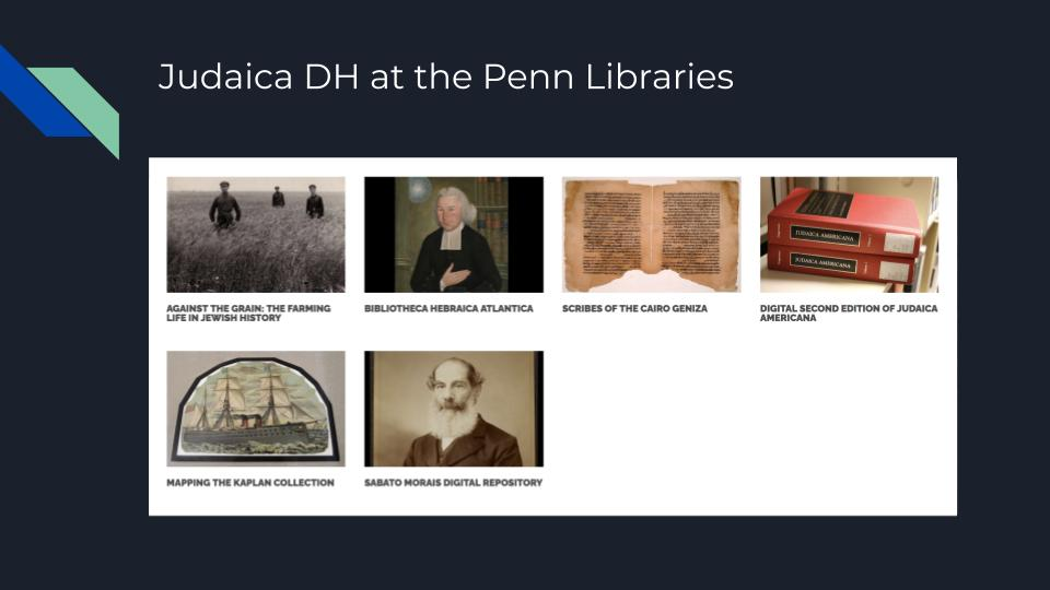 Overview of Current Project at Judaica DH at the Penn Libraries