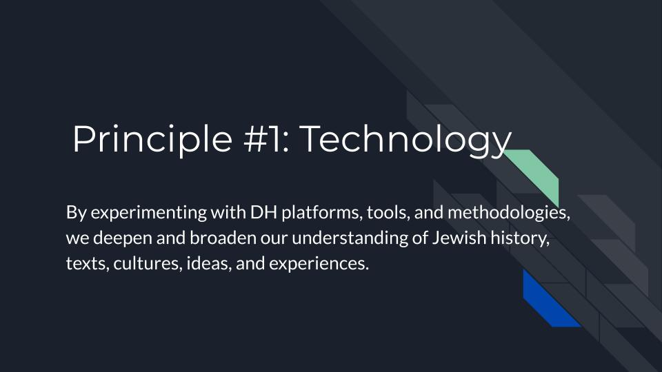 Principle 1: Technology