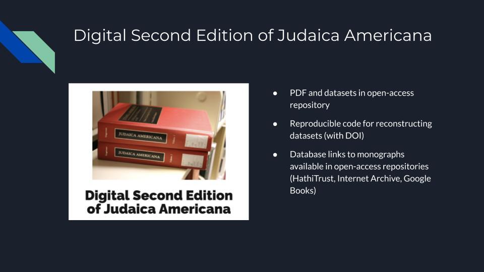Digital Second Edition of Judaica Americana