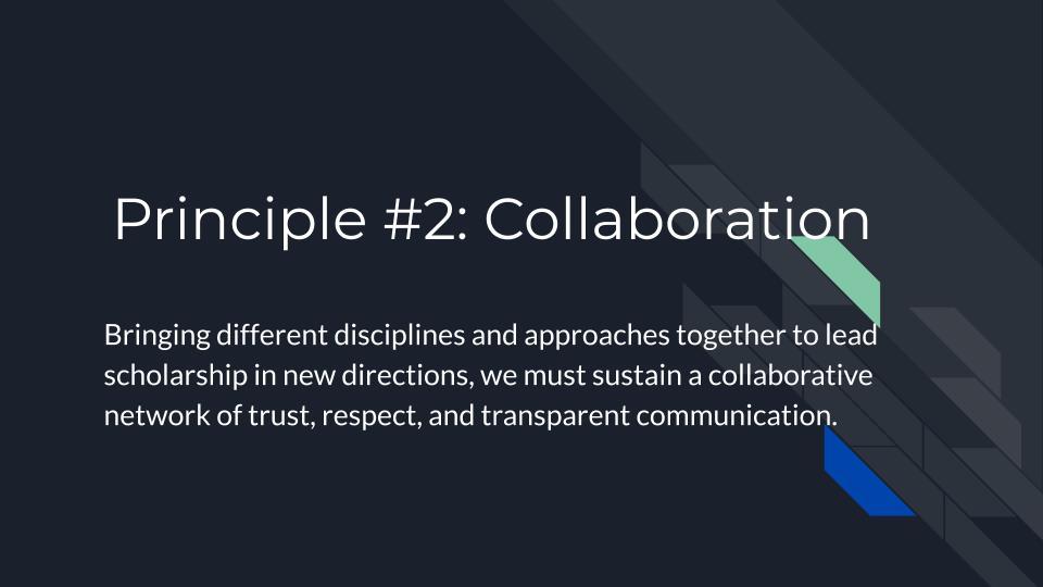 Principle 2: Collaboration